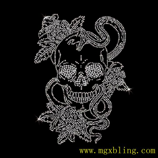 c4b38ac9 Popular sale Snakes with Skull Rhinestone Iron On Transfer made in china